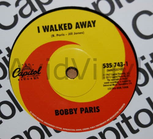 I Walked Away / Sweet Sweet Love - BOBBY PARIS / BOBBY SHEEN