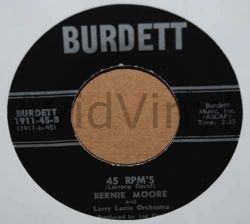45 RPM S I LL NEVER BEGIN TO FORGET by BERNIE MOORE