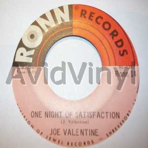 JOE VALENTINE - One Night Of Satisfaction / I Can't Stand To See You Go