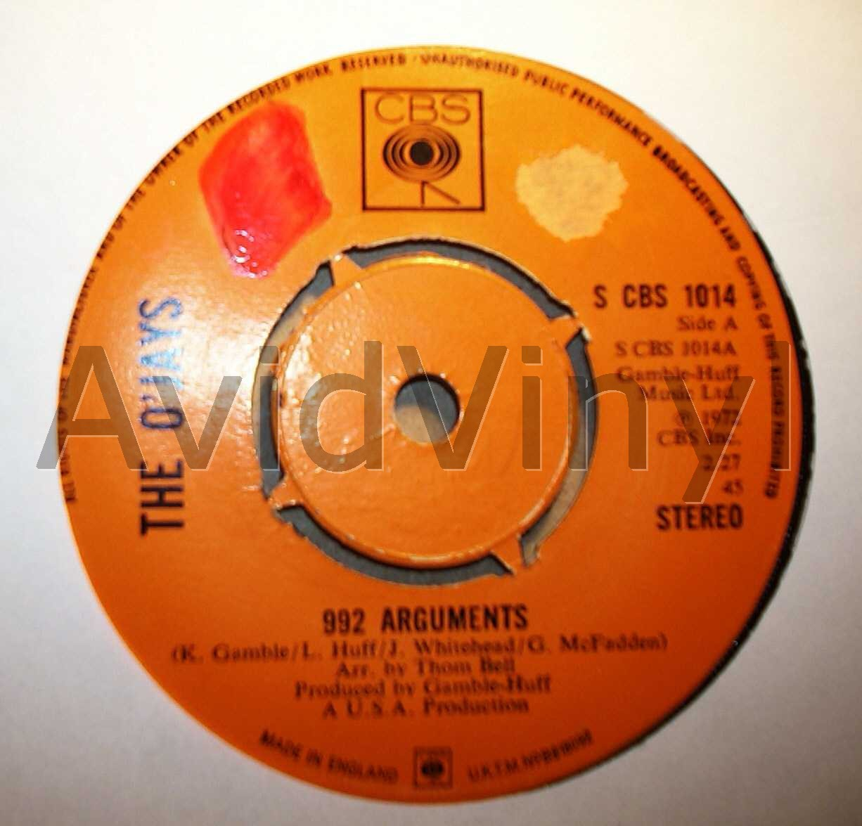 992 ARGUMENTS LISTEN TO THE CLOCK ON THE WALL by O JAYS