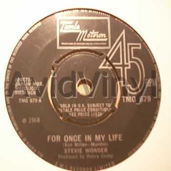 STEVIE WONDER - For Once In My Life / Angie Girl Album