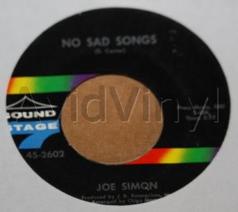 JOE SIMON - No Sad Songs / Come On And Get In