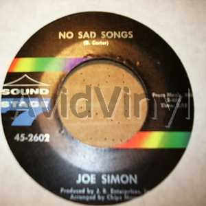 No Sad Songs / Come On And Get In - JOE SIMON