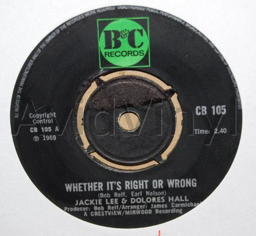 Whether It's Right Or Wrong