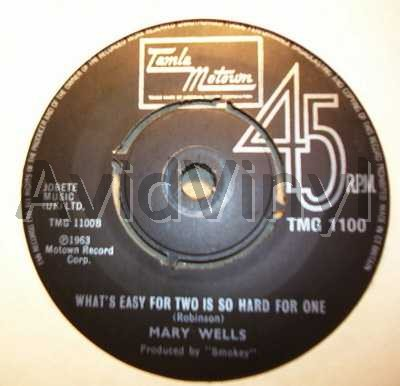 WHAT S EASY FOR TWO IS SO HARD FOR ONE MY GUY by MARY WELLS
