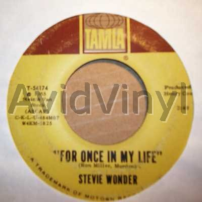 STEVIE WONDER - For Once In My Life / Angel Girl