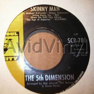 5TH DIMENSION - Skinny Man / Blowing Away