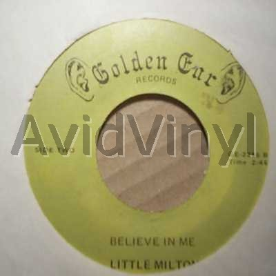 LITTLE MILTON - Believe In Me / Catch The Plane Album