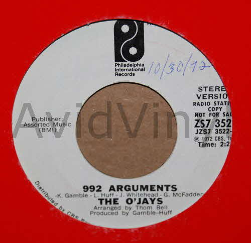 992 ARGUMENTS SAME by O JAYS
