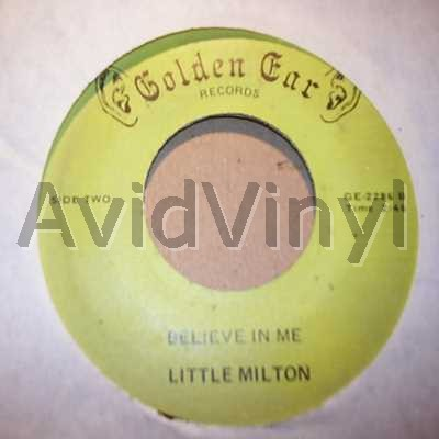 LITTLE MILTON - Believe In Me / Catch The Plane