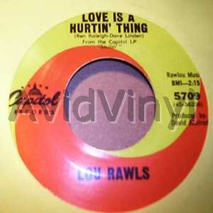 LOU RAWLS - Love Is A Hurtin' Thing / Memory Lane Record