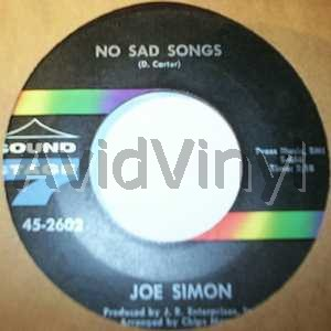 JOE SIMON - No Sad Songs / Come On And Get In Album