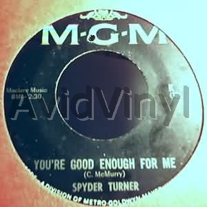 SPYDER TURNER - EVER AGAIN / UP AND OVER - 7inch x 1