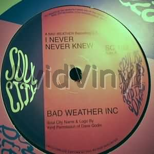 I NEVER NEVER KNEW YOU REALLY GOT A HOLD ON ME by BAD WEATHER INC