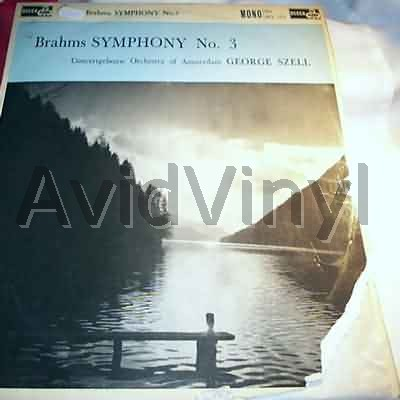 ORCHESTRA OF AMSTERDAM GEORGE SZELL - BRAHMS SYMPHONY NO 3 - LP