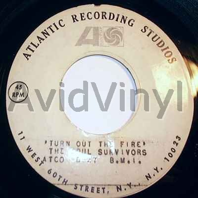 SOUL SURVIVORS - Turn Out The Fire / Blank