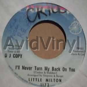 LITTLE MILTON - I'll Never Turn My Back On You / Blank