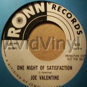 One Night Of Satisfaction / I Can't Stand To See You Go - JOE VALENTINE