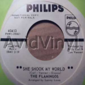 FLAMINGOS - She Shook My World / Itty Bitty Baby Album