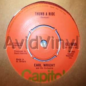 Earl Wright Thumb A Ride Records Lps Vinyl And Cds